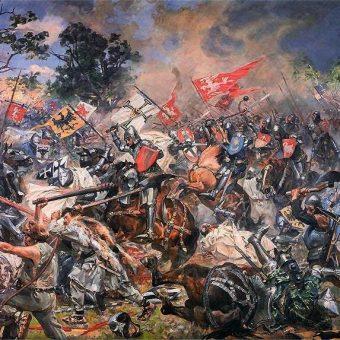 Bitwa pod Grunwaldem pędzla Wojciecha Kossaka.