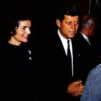 John F. Kennedy w czasie kampanii prezydenckiej.