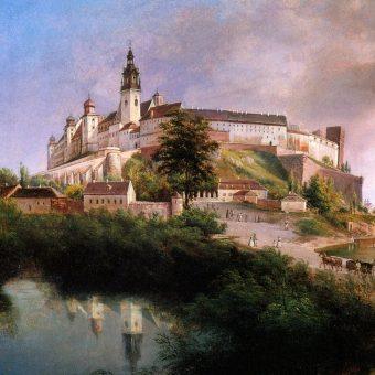 Tak wyglądało wzgórze wawelskie od północnego-zachodu w 1847 roku na obrazie Jana Nepomucena Głowackiego.