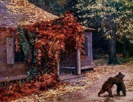Przed 1917 rokiem majątku Katyń-Borek zapewne również panowała tak sielska atmosfera jak na obrazie Henryka Weyssenhoffa.