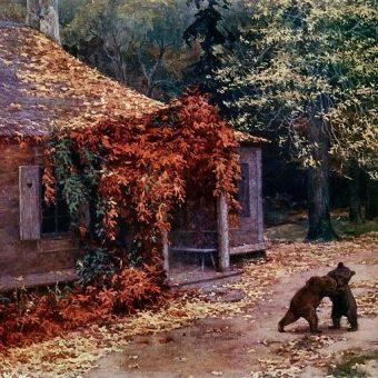 Przed 1917 rokiem w majątku Katyń-Borek zapewne również panowała tak sielska atmosfera, jak na obrazie Henryka Weyssenhoffa.