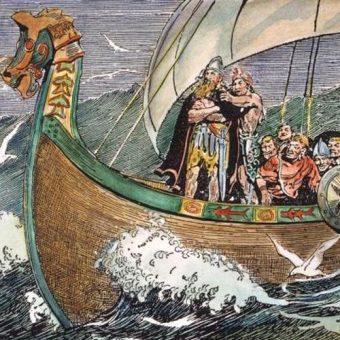 Wikingowie już od najmłodszych lat przygotowywani byli do morskich podróży.