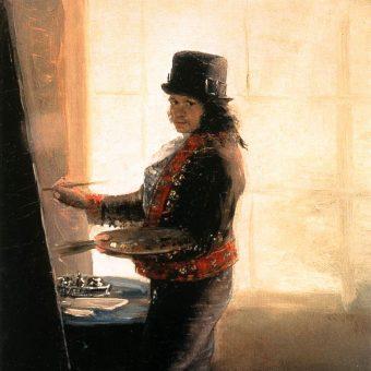 Goya przy pracy. Autoportret.