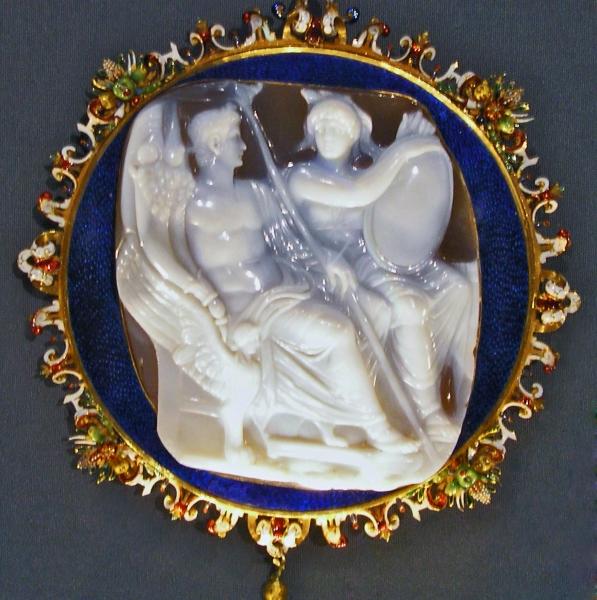 Cesarz Kaligula na rzymskiej gemmie