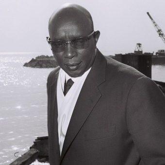 Król Mwambutsa IV. Zdjęcie z 1962 roku.