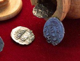 Monety, które zostały znalezione w centrum Moskwy.
