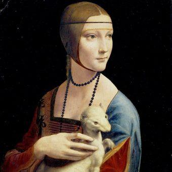 """Najważniejszym eksponatem z kolekcji Czartoryskich jest """"Dama z gronostajem"""" Leonarda da Vinci."""