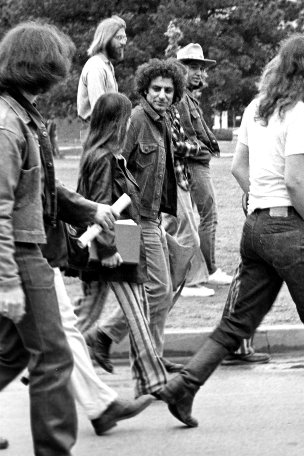 Abbie Hoffman na Uniwersytecie Oklahoma podczas protestów przeciwko wojnie wietnamskiej.