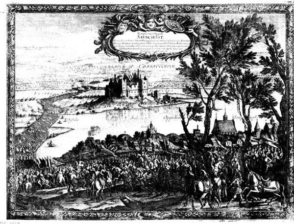 Po zamku w Zawichoście nic już nie zostało. Możemy go podziwiać tylko na starych ilustracjach, jak ten rysunek Erika Dahlbergha z 1657 roku.