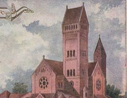Kościół świętych Szymona i Heleny w Mińsku na widokówce sprzed 1917 roku.