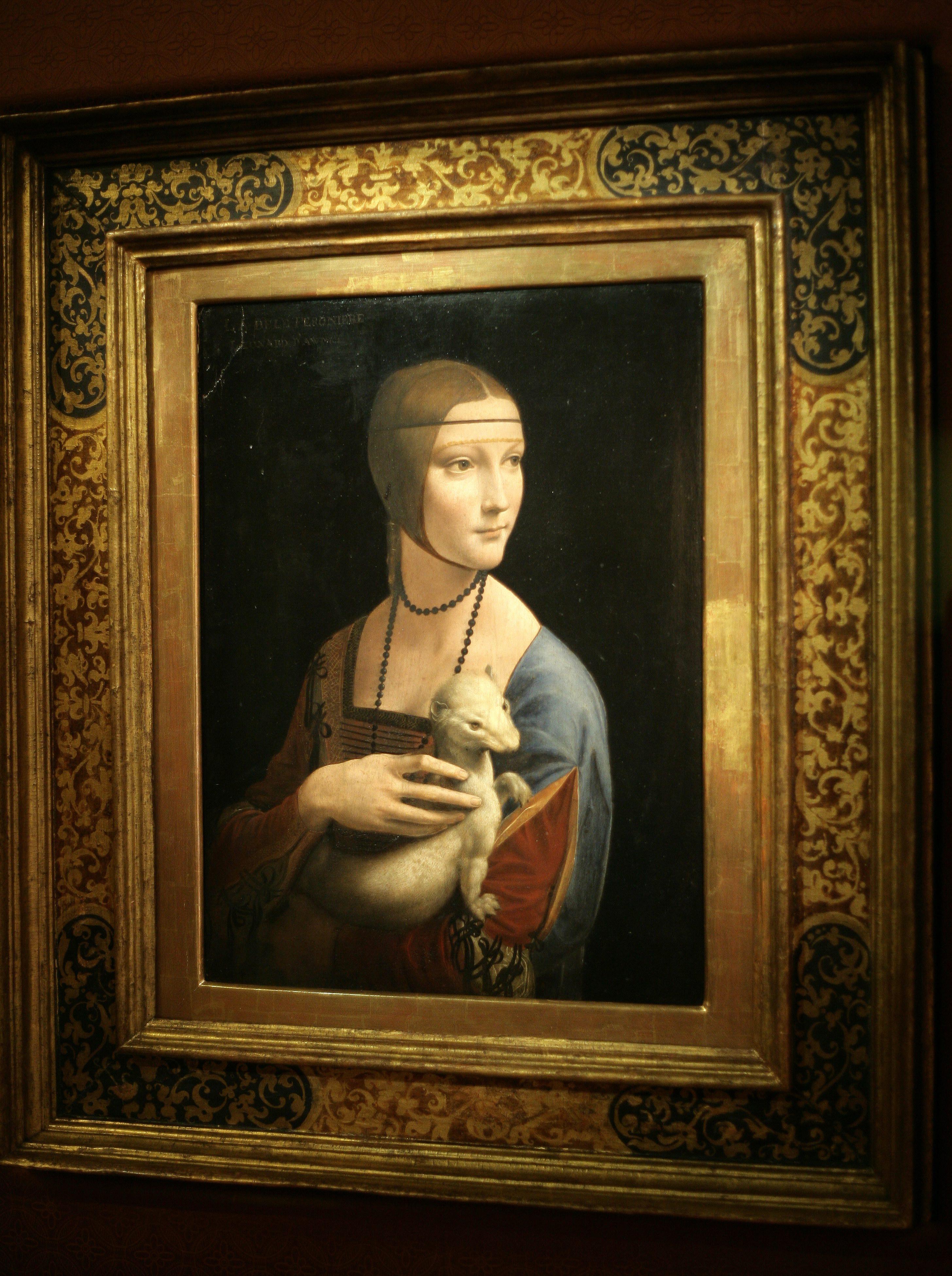 """Od niedawna zwiedzający mogą podziwiać """"Damę z gronostajem"""" Leonarda w Gmachu Głównym Muzeum Narodowego w Krakowie. Do 22 czerwca można ją obejrzeć za darmo."""