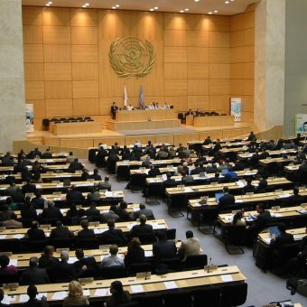 Sala obrad ONZ w Genewie.