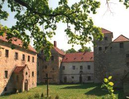 Tak wygląda dziedziniec sprzedawanego zamku.