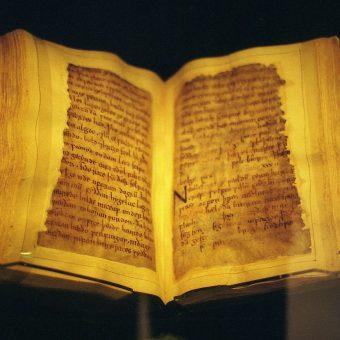 Wykorzystywanie średniowiecznych pergaminów przez introligatorów było częstą praktyką między XV-XVIII wiekiem.