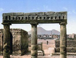 Widok Pompei w 1900 roku.