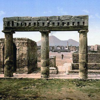 Widok Pompejów w 1900 roku.