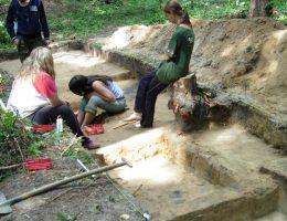 Wykopaliska archeologiczne w Ulowie w 2008 roku.