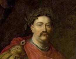 Portret Jana III Sobieskiego w stroju rzymskim autorstwa Daniela Schultza.