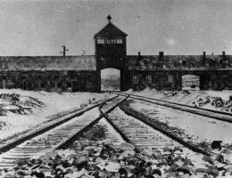 Brama główna Auschwitz II (Birkenau). Utworzone na tych terenach państwowe Muzeum wciąż reaguje na skandaliczne wykorzystywanie bolesnych symboli z czasów wojny.