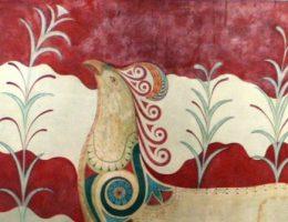 Fragment fresku z pałacu w Knossos