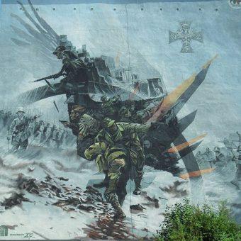 Mural upamiętniający Narodowe Siły Zbrojne w Gdańsku.