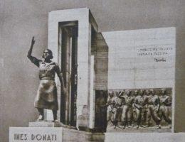 Pomnik Ines Donati, jednej z młodych dziewczyn walczących o faszyzm we Włoszech.