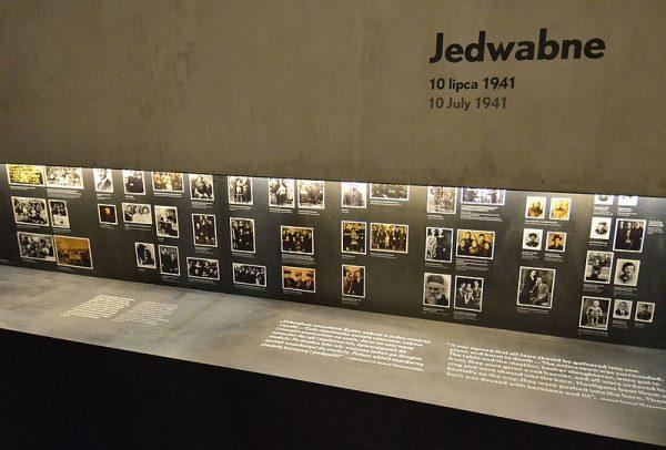 W Muzeum Historii Żydów Polskich POLIN powstała stała ekspozycja poświęcona pogromowi w Jedwabnem. Na zdjęciu fragment wystawy.