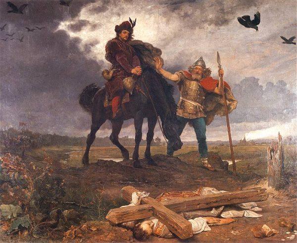 Choć nabytków Chrobrego nie dało się długo utrzymać, dzięki jego wnukowi państwo przetrwało. Na tym obrazie Wojciecha Gersona widzimy powrót Kazimierza Odnowiciela do Polski.