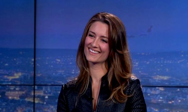 Diane Ducret podczas występu we francuskiej telewizji.