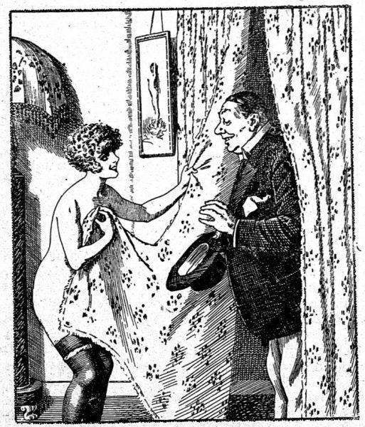 """Seks kojarzył się tylko z brudem i niebezpieczeństwem. Ilustracja z pisma """"Nowy Dekameron""""."""