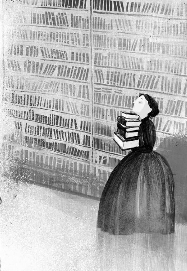"""Chociaż Żmichowska nie podejmowała głośnych feministycznych manifestacji, całe jej życie było walką o prawa kobiet do samodzielnego i świadomego kształtowania swojego życia. Ilustracja pochodzi z książki Anny Dziewit-Meller """"Damy, dziewuchy, dziewczyny. Historia w spódnicy"""" (Znak Emotikon 2017)."""