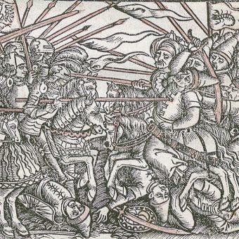Bitwa Polaków z Tatarami na XVI-wiecznym drzeworycie