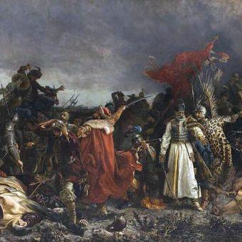 """Fragment obrazu Witolda Piwnickiego """"Bitwa pod Cecorą"""""""