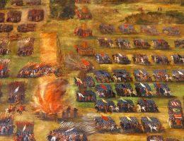Fragment obrazu Bitwa pod Kłuszynem Szymona Boguszowicza