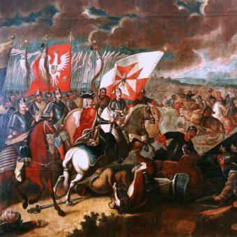 Bitwa pod Kaliszem na XVIII-wiecznym obrazie