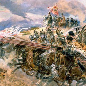 Bitwa pod Kircholmem na obrazie Wojciecha Kossaka.