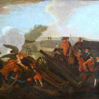Fragment XVIII-wiecznego obrazu przedstawiającego bitwę pod Kliszowem