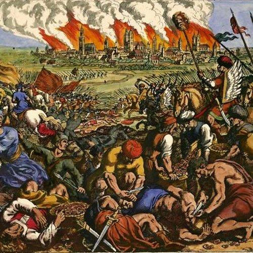 Bitwa pod Legnicą na miedziorycie Matthäusa Meriana Starszego
