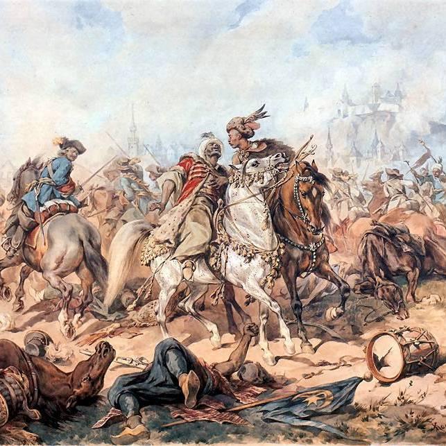 Bitwa pod Parkanami na obrazie Juliusz Kossaka