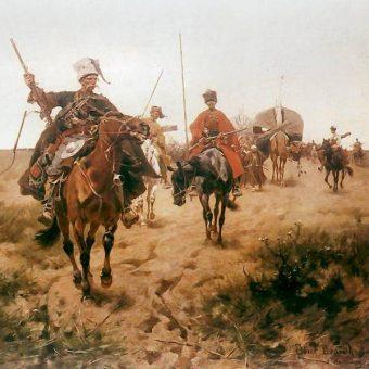 """""""Tabor kozacki"""", obraz Józefa Brandta"""
