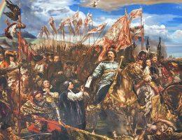 Jan Matejko Jan III Sobieski wysyła wiadomość o zwycięstwie papieżowi Innocentemu XI