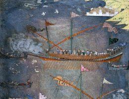 Kozackie czajki atakuję tureckie galery