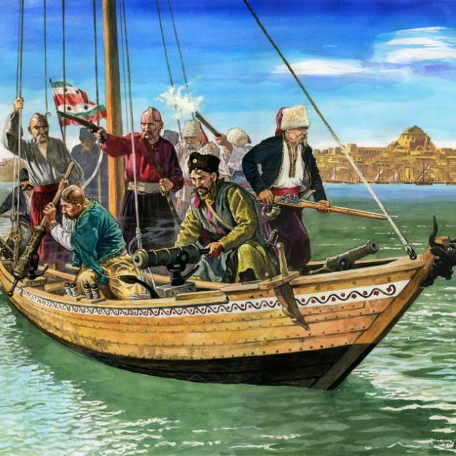 Kozacy zaporoscy. Rysunek Marka Szyszki