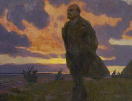 Lenin nad rzeką w 1917 roku. Obraz autorstwa Arkadego Ryłowa z 1934 roku.