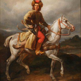 """""""Lisowczyk"""". Obraz Juliusza Kossaka z pierwszej połowy lat 60. XIX wieku."""