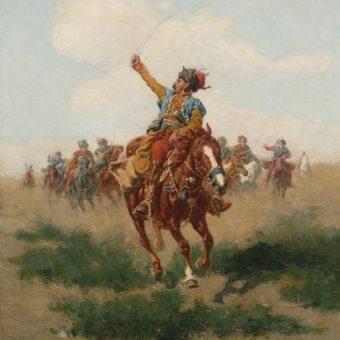 """""""Lisowczyk"""" obraz Władysława Szernera"""