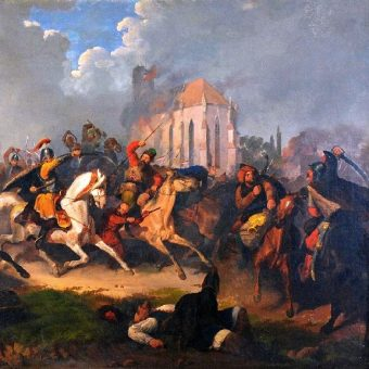 """Odbicie jasyru"", fragment obrazu Artura Grottgera"