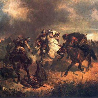 """""""Potyczka z Tatarami"""", obraz Maksymiliana Gierymskiego"""