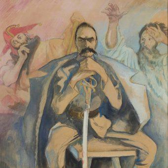 Kazimierz Sichulski sportretował Piłsudskiego ze Stańczykiem i z Wernyhorą. W rzeczywistości jednak dobro kraju, reprezentowane przez te postacie, nie zawsze było u niego na pierwszym miejscu