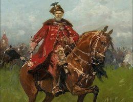 Stefan Czarniecki na koniu